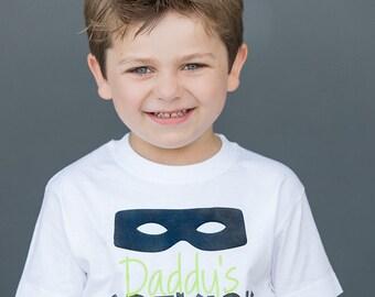 Daddy's Side Kick Boys T Shirt Clothing Hero Gift