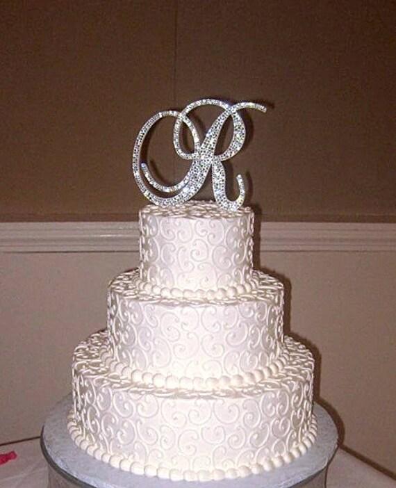 Wedding Cake Bling Beautiful Cakes That Sparkle Shine: Bling Wedding Cake Topper Crystal Sparkle Rhinestone