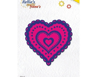 7 Dies decorative hearts 9 x 8 frames, 5 cm_MFD043