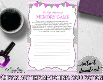 Baby Shower Strippy Baby Shower Zig Zag Contest What To Do MEMORY GAME, Prints, Digital Download, Baby Shower Idea - cp001