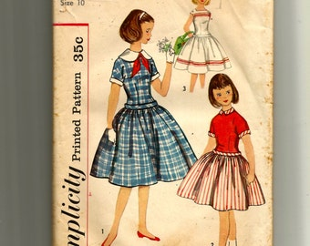 Simplicity Girls' One-Piece Dress Pattern 2355
