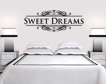 Sweet Dreams Vinyl Art Home Wall Bedroom Letters Quote Decal Sticker Decoration