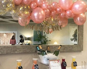 Bubbly bar sign, Bachelorette party decoration, Bubbly bar garland, Bridal shower banner, Bachelorette party sign, Bubbly bar banner, Decor