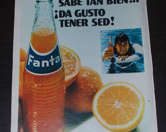 Vintage Fanta ad from 1971 - Orange Fanta - Retro ads - Spain