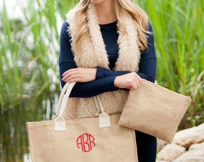 Monogrammed Burlap Tote Bag, Burlap Tote Bag, Personalized Tote Bag, Bridesmaid Gifts, Christmas Gifts Under 30, Personalized Gifts