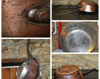 Gaillard 3MM french windsor COPPER PAN saucepan fully reconditioned new tin