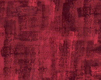 "Andover Fabrics - 108"" Wide - Brushline Red Wideback Backing Fabric by Kim Schaefer - Sold by Half Yard"