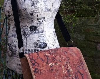 Art Messenger Bag - Steampunk Cogs