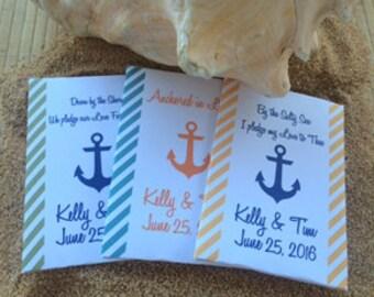 50 beach Wedding Favors, Anchor Wedding Favors, Beach Seed Packet Favors, Nautical Wedding Favors, beach favors, sea wedding favors,nautical
