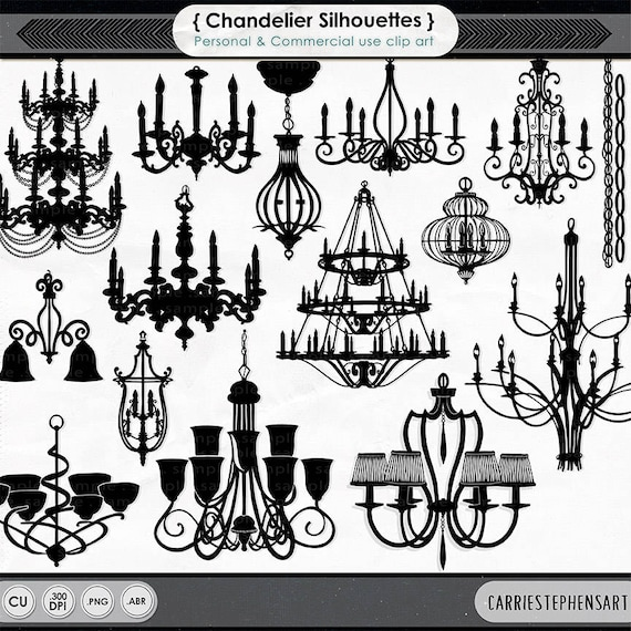 Chandelier clip art png silhouettes photoshop brushes chic chandelier clip art png silhouettes photoshop brushes chic baroque graphics clip art for wedding invites stationery from carriestephensart1 on etsy aloadofball Image collections