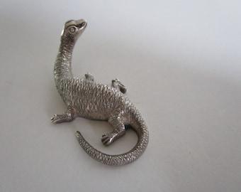 Scottish Provincial Silver Loch Ness Monster Miniature, Nessie, John Fraser, Inverness, 1942 - 1969.