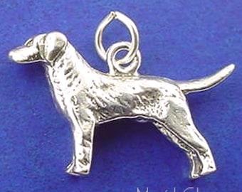 LABRADOR RETRIEVER or Vizsla Charm .925 Sterling Silver Pendant - lp2085