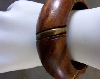 Wood and Brass Bangle