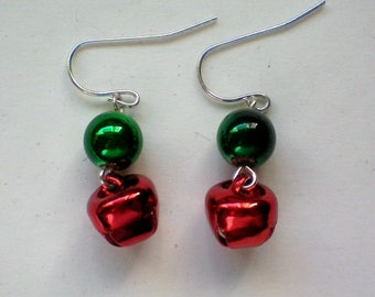 Miniature Jingle Bells Earrings for the Holidays