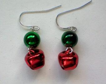 Miniature Jingle Bells Earrings for the Holidays
