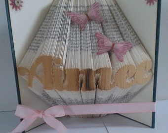 Personalised (name of your choice) book fold
