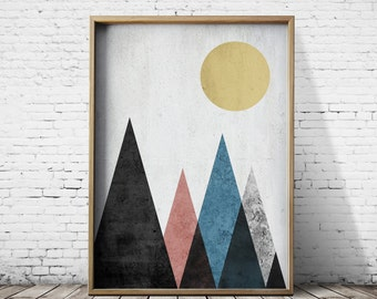 High Quality A1 Poster Digital Print Geometric Art Digital Download Geometric Prints Wall  Art Prints Modern Prints Geometric