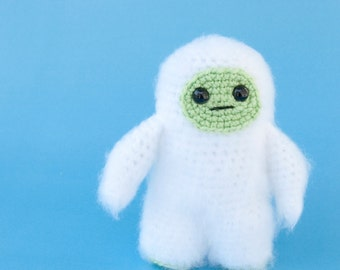 PDF Crochet Pattern - Fuzzy Little Yeti Bigfoot