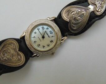 Ladies Crumrine Southwestern Look Quartz Watch, Mother of Pearl Dial.