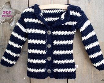 Haakpatroon Baby Vest met streepjes