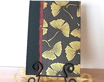 Journal, Diary, Notebook, Planner, Bullet Journal, BUJO, Sketchbook, Travel Journal, Daily Planner,Personalized Journal, Black & Gold Gingko