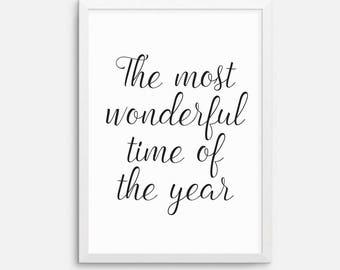 Instant download - Christmas art printable, downloadable print, printable quote, wall art quote, holidays art, festive, black white