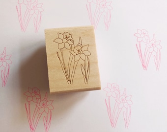 Daffodil Rubber Stamp