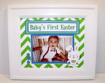 Baby's First Easter Photo Mat - Personalization Optional - 8x10 UNFRAMED Insert - Holds 4x6 Horizontal or Vertical Photo