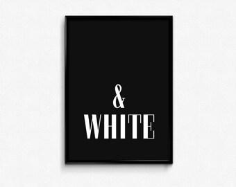 "PRINTABLE Art ""Black and White Print"" Typography Art Print Minimalist Art Minimalist Print Office Decor Home Decor Apartment Decor"