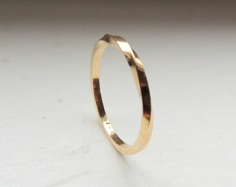 Gold Band Ring - 14K gold stackable ring - gift for her - gold - jewelry