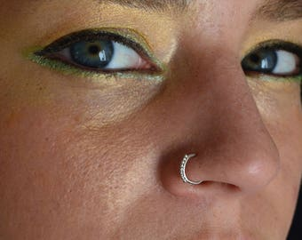 Nose Ring, Silver nose ring, tribal nose ring, christmas sale, nostril ring, 925 Silver nose hoop, Indian nose ring, septum