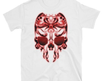 Black Red flame skull
