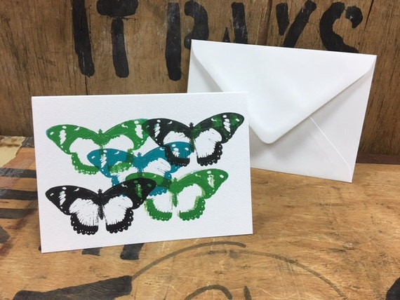 Butterfly Card • Butterfly Screen Print • Butterfly Art • Butterfly Greeting Card • Butterfly Birthday Card • Card For Butterfly Lovers