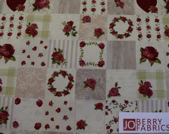 Rose Fabric, Rosie's Summer by Stof Fabrics of Denmark, Quilt or Craft Fabric, Fabric by the Yard