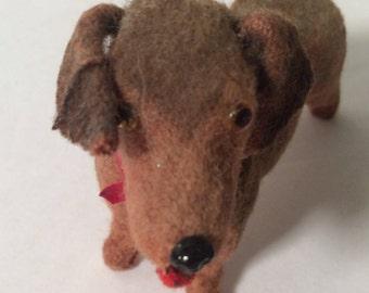 Vintage German Felt Dog - Dauchshund