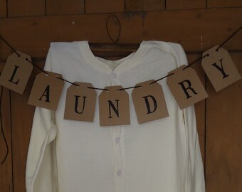 Laundry Room wall decor, country primitive, cottage, farmhouse style Banner