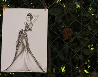 drawings and illustrations made by hand