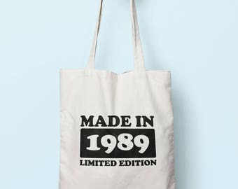 Made In 1989 Limited Edition Tote Bag Long Handles TB1752