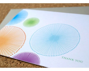 Thank You Notes with Fun Bright Cirlces