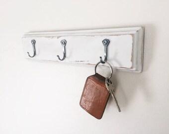 Key Holder - Key Holder for Wall - Key Hook - Key Organizer - Key Rack - Rustic Home Decor - Entryway Key Holder