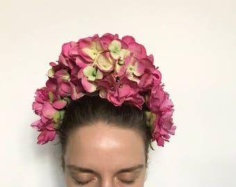 Flower headpiece woman, flower headband, flower crown, bridal crown