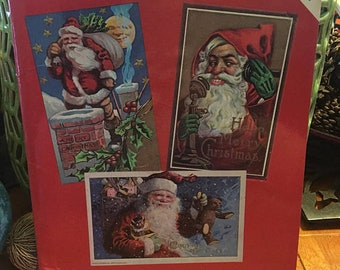 Book Of Antique Santa Post Cards