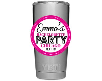 Waterproof bachelorette Stickers, Personalized party cup stickers, bachelorette water bottle stickers, party supplies, set of 9- Molly
