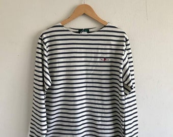 Vintage 90s POLO CLUB striped long sleeve tshirt size L new with tag unworn new old stock