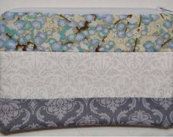 Handmade Zippered Pouch - Perfect for a Make Up Bag, Pencil Case, Coin Purse, Accessories Pouch etc.