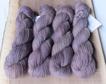 Soft Plum - 100% Hand Dyed Cashmere Lace Yarn