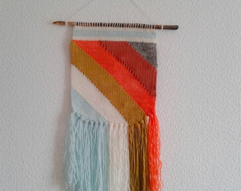 "Weaving wall hanging lol ""Fausta"" ethnic weaving wall art handmade"