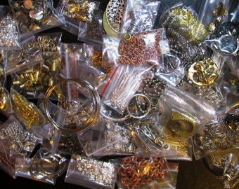 "Random Findings/ Jewelry Supplies ""Grab Bag"" Lots-  Choose 1/4 pound or 1/2 lb lots"