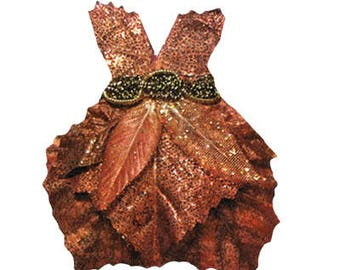 Fairy Paper Doll Dress . Add-on to the Fairy Starter Set . Autumn Leaves