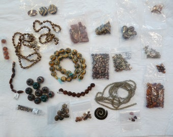 DESTASH Selling my BROWN Beads for Crafts Beading